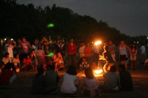 dancing and spinning fire in Bali, Indonesia in 2007. they watched me while i danced as if no one was looking.