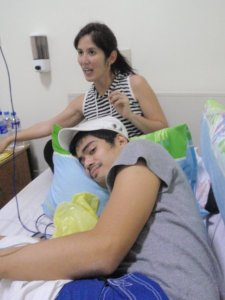 The first time I was fighting for my life because of meningitis and my sister was taking care of me (September 2008)