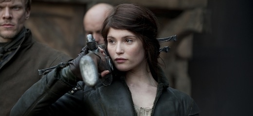 """And my name is Gretel""; Gemma Arterton as Gretel, bad-ass and foul-mouthed and lovely as all hell"