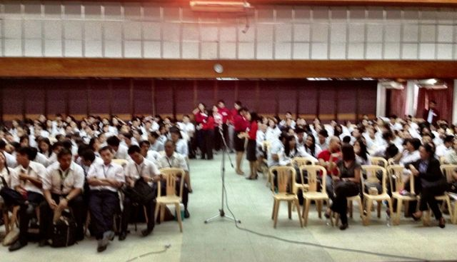 The students of St. Paul's University Iloilo