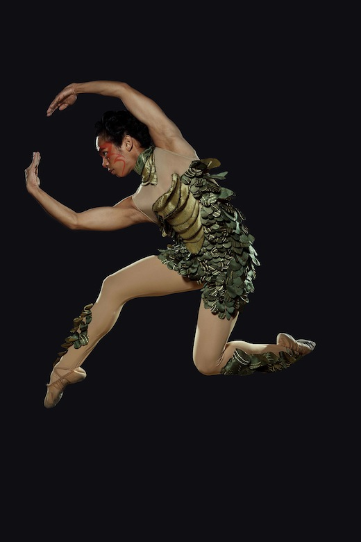 the brilliant Cyril Aron Fallar as Puck in Ballet Philippines' A Midsummer Night's Dream