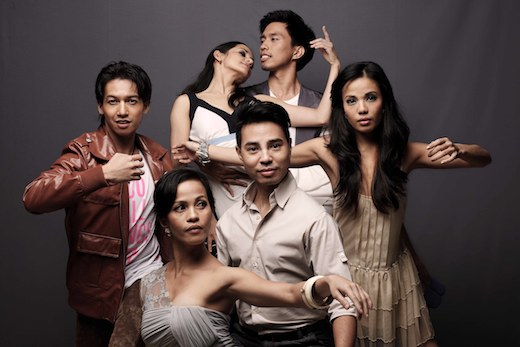 A Midsummer Night's Dream choreographer Carlo Pacis with the principal dancers