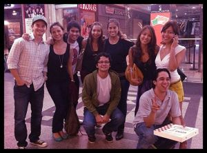 The gang, all together, off to the movies to watch my Dad's film, Seduction, in Glorietta. Reunited, and it feels so good
