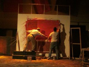 it''s all red... Actor's Actors Inc. staging of Red by John Logan is a triumph