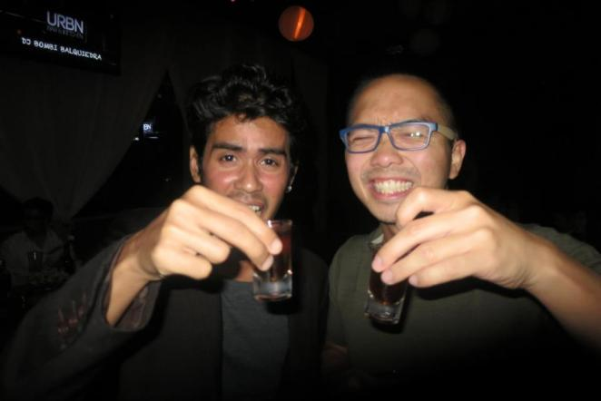 Cheers! (at the URBN grand launch with Poma, photo by Cez)