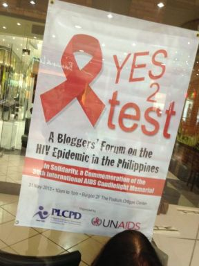 Yes to Test! The PLCPD blogger's forum to help spread information about the importance of taking an HIV test