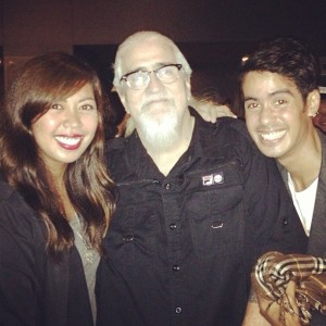 One of my best friends in the world, practically my sister, Cez Golez and my Dad, after watching the film