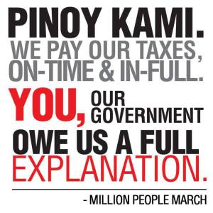 A meme that is circulating on Facebook, demanding a complete liquidation of EVERY member of government who has ever received pork barrel. Tell us: where did the money go?