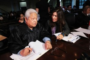 (taken from Senator Pia Cayetano's website) The senator with former Albay representative Edcel Lagman, both heroes for their tireless fight for the RH Bill and RH Law