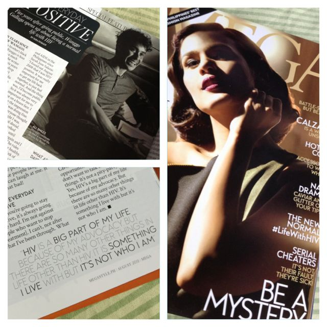 The beautiful Iza Calzado on the cover of August's issue of Mega. And hey! I'm in the pages too! :D