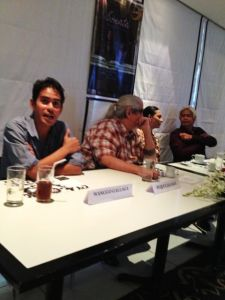 vanity shot before the start of the press con with the director Peque Gallaga (my Dad), Cherie Gil, and director Lore Reyes