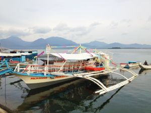 The Princess Regina, the boat of Barangay Bagong Silang, which takes out tourists into Puerto Princesa bay for dolphin watching