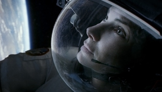"""Houston to Sandra... Come down to Earth, you have to pick up your Oscar"" (photo from Gravity courtesy of Warner Bros. Philippines)"