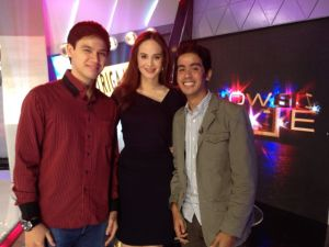 Martin Escudero, Lucy Torres-Gomez, and I at the set of Showbiz Police. Today, October 12, on TV5