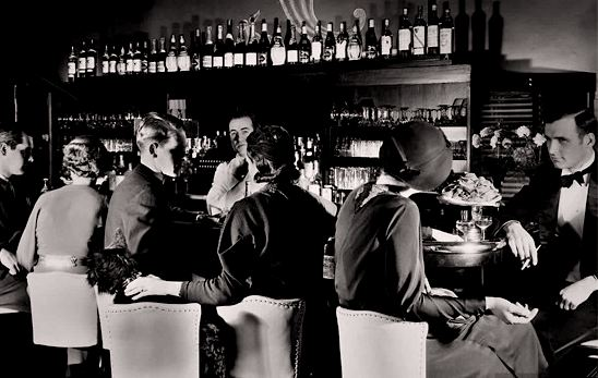 a prohibition era photo of a speakeasy (taken from the Internet)