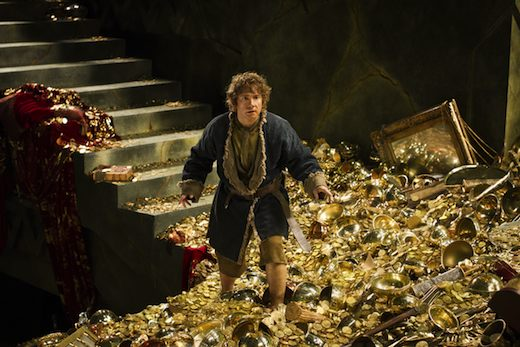 Bilbo in the belly of The Lonely Mountain (photo courtesy of Warner Bros. Pictures)