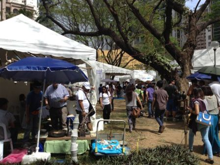 Art in the Park at Salcedo Village. It was a lovely sunny Sunday.