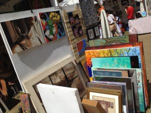 Art for sale. If you are particularly good and meticulous, you might find affordable prints and paintings from top artists when they were still starting out.