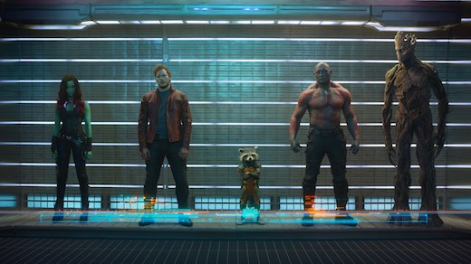 "Guardians of the Galaxy -- Probably one of the most enjoyable big-budget ""event"" films ever released and is probably going to be the most impactful pop cultural movement of 2014."