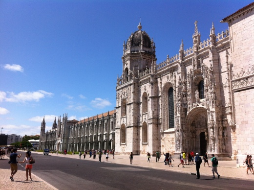 Mosteiro de Jeronimos in Belem, a perfect example of the Manueline style which is a mix of both Gothic and Renaissance aesthetics