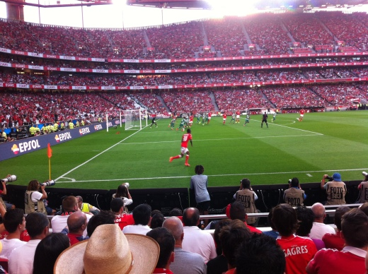 One of Benfica's attempts at a goal