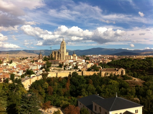 The view of Segovia from the tower of the Alcazar castle, which is absolutely breath-taking
