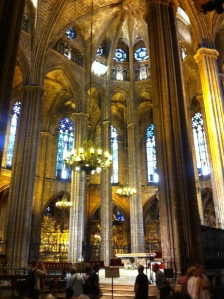 The Barcelona Cathedral where I made my third prayer of thanks to the creator spirit, whoever or whatever it is (even if it is just the god in me)