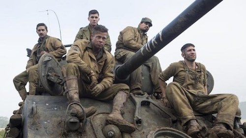 Brad Pitt, Logan Lerman, Shia LeBeouf, Michael Pena, and Jon Bernthal comprise the excellent cast of Fury