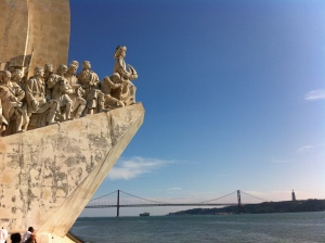 The Monument to the Dicoveries in Belem, Portugal. A monument built to Portugal's history of grand expeditions. It's fitting as I return home, to turn back to my recent trip as it marks my own personal embarkation into a whole new world of creative pursuits.