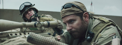 Bradley Cooper, doing an Oscar-worthy turn in American Sniper, one of the few good things about this film, in my opinion