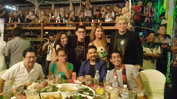 At the Sarawak Cultural Village during the official welcome party where we found out the nominees (with Cherie Gil, Richard Gutierrez, Sarah Lahbati, Raymond Guttierrez, Leo Martinez, Lesley Martinez, and JM Rodriguez) Photo by Pilar Mateo