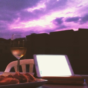 "As posted on my Instagram (@wanggo): ""Roofdeck session to bask in the glory of the Blood Moon, complete with prosciutto, cheese, white wine, speakers, and an iPad and the sky is full of clouds! I can't see a patch of freaking sky!"