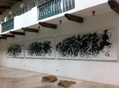 Panalo! (Winner) by Ferdie Montemayor, a massive triptych, Acrylic on canvass