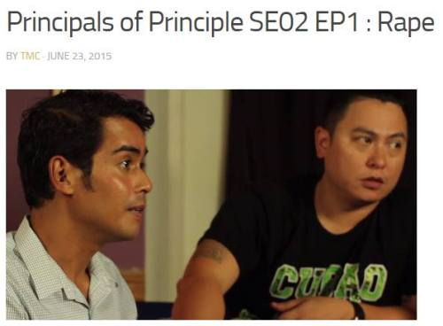 My co-host Victor Prieto and myself on a clip from the first episode where we talk about rape.