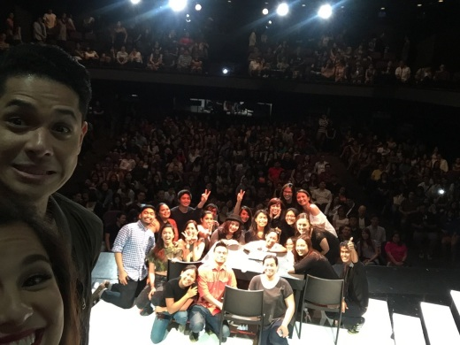 August 8, 2015: the closing show of our first run of No Filter with a packed house and as much as the production who were present and can fit on that stage. This is what epic is made of.