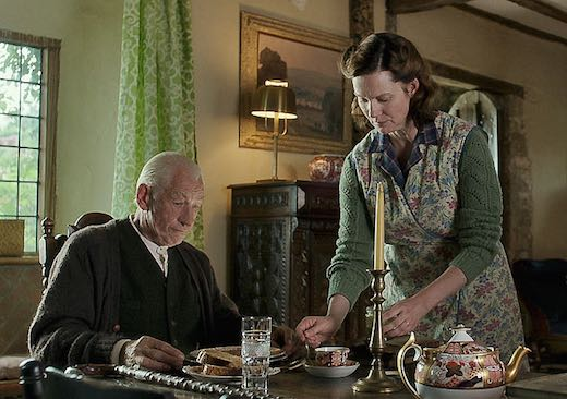 The incredible Ian McKellen and Laura Linney in the amazing Mr. Holmes