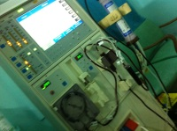 The dialysis machine that's helping out my kidney do its job