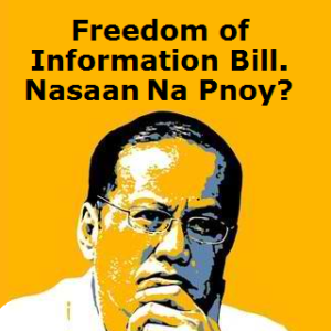 (just found this photo on the Internet) If daang matuwid/the straight path was going to be your legacy, what happened to your promised Freedom of Information bill/law?